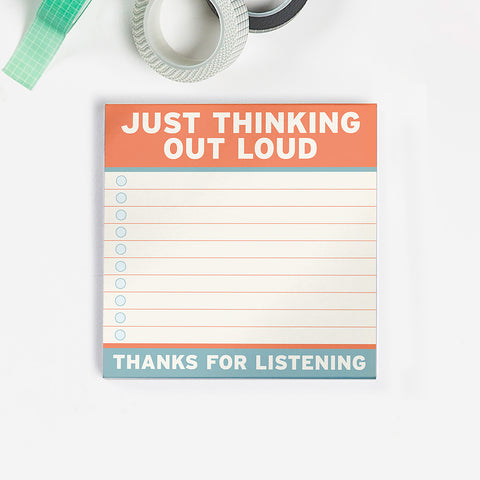 Thinking Out Loud Large Sticky Notes (4 x 4-inches)