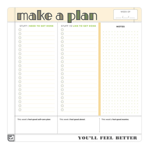 Make a Plan Sticky Paper Mousepad