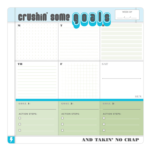 Crush Some Goals Sticky Paper Mousepad