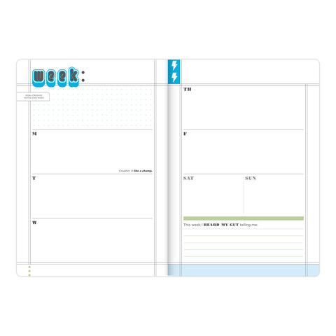Crush Those Goals Undated Planner & Weekly Agenda Notebook