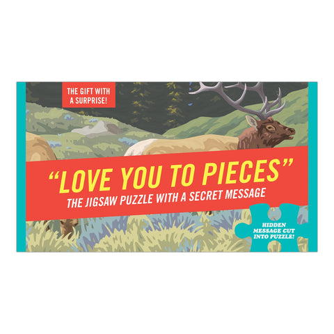 Knock Knock Love You to Pieces Message Puzzle