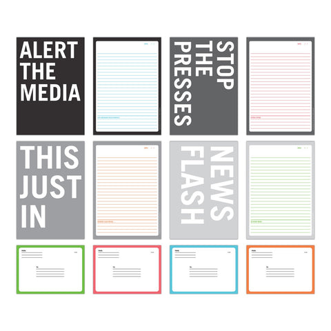 Knock Knock Alert the Media Stationery Set