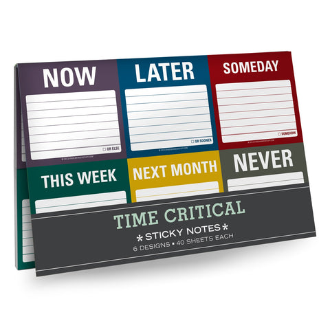 Knock Knock Time Critical Sticky Notes Packet