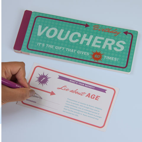 Birthday Vouchers by Knock Knock | KnockKnockStuff.com