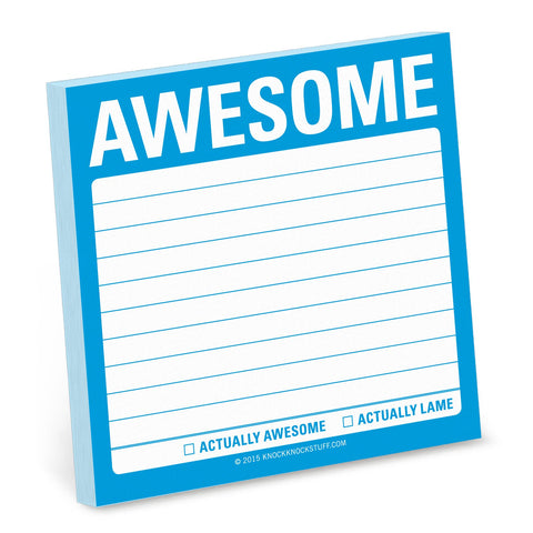 Knock Knock Awesome Sticky Notes