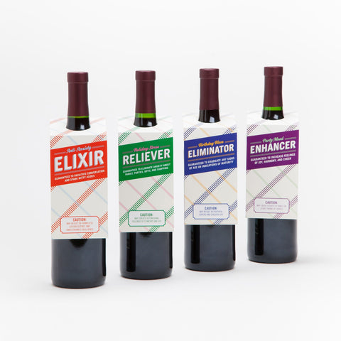 Knock Knock Mood Enhancer Wine Tags