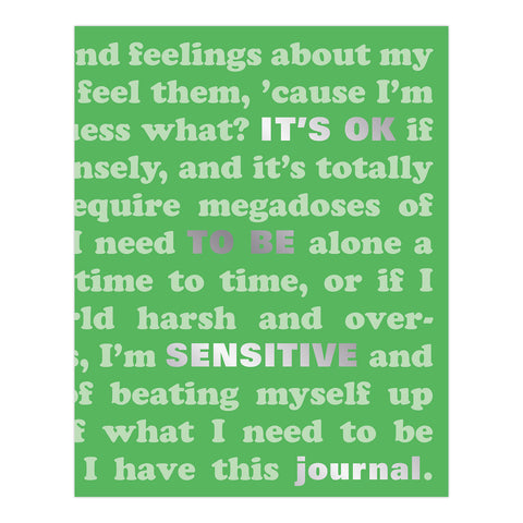 It's OK to Be Sensitive Journal