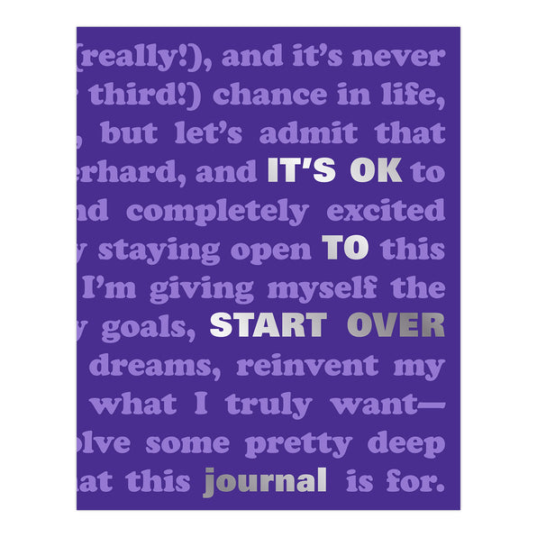 It's OK to Start Over Journal