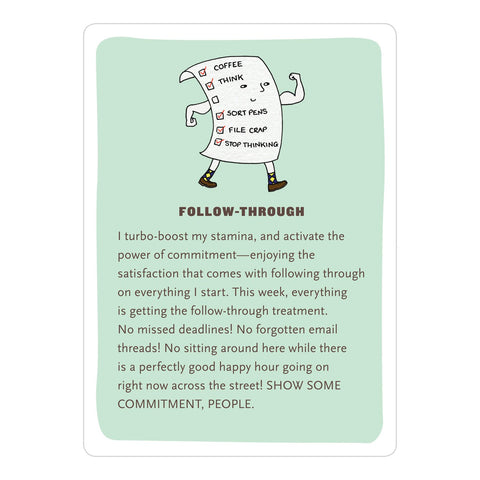 Affirmators! at Work: 50 Affirmation Cards to Help You Help Yourself - without the Self-Helpy-Ness!