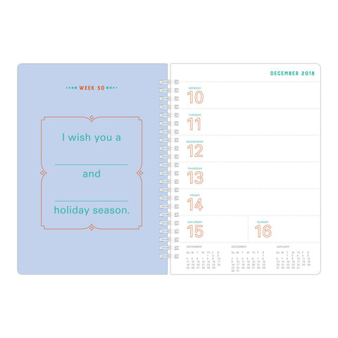 Knock Knock What I Wish for You Each Week, All Year Long Fill in the Love® Weekly Calendar