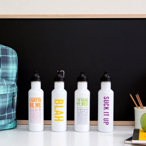 Knock Knock Limited-Edition Water Bottles