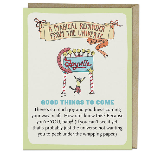 Good Things to Come Affirmators!® Greeting Card