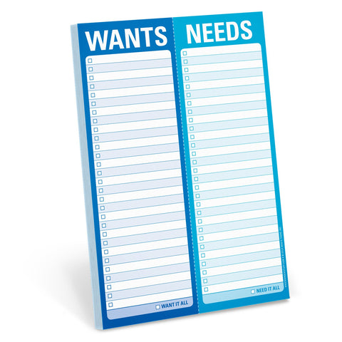 Knock Knock Wants / Needs Perforated Pad