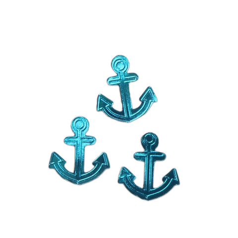 Knock Knock Blue Anchors Lick and Stick Foil Stickers