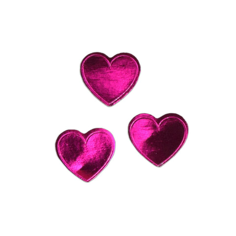 Knock Knock Pink Hearts Lick and Stick Foil Stickers