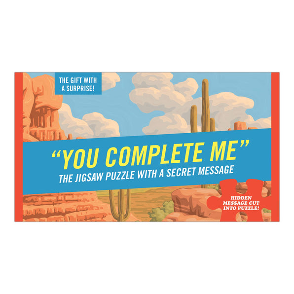 Knock Knock You Complete Me Message Puzzle