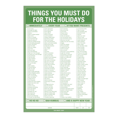 Knock Knock Things You Must Do for the Holidays Pad