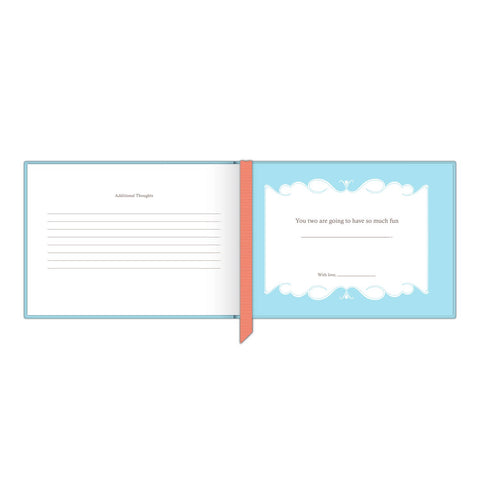 Knock Knock Wishes, Advice, and Happy Thoughts for Your Marriage Wedding Shower Fill in the Love Journal