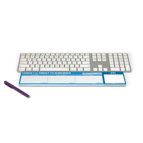 Knock Knock Things I'll Forget to Remember Keyboard Wrist Note Pad