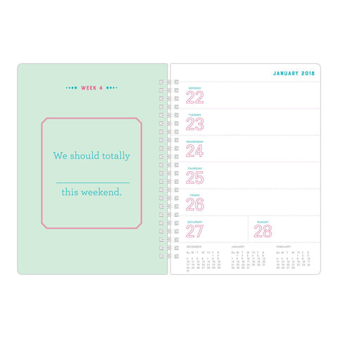 What I Love About You Fill In The Love Weekly Calendar