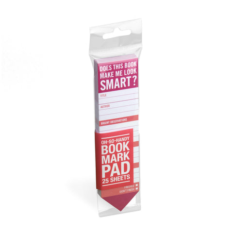 Knock Knock Does This Book Make Me Look Smart? Bookmark Pad