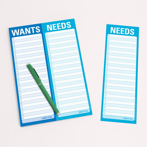 Knock Knock Wants / Needs Perforated Notepads