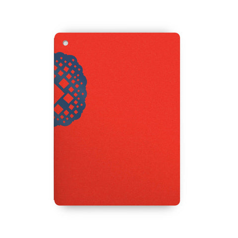 Plumb Notebooks Blue on Red Wraparound Notebook