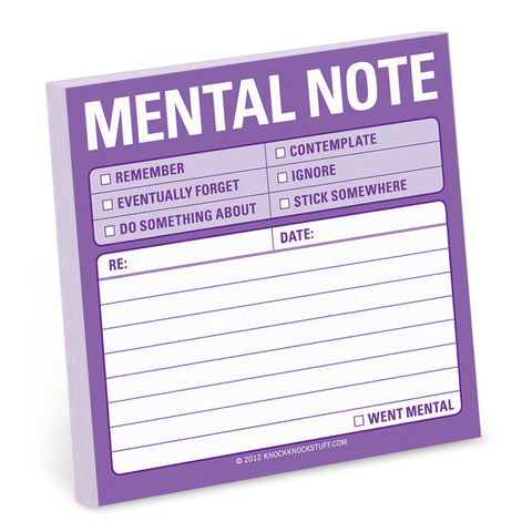 Knock Knock Mental Note Sticky Notes