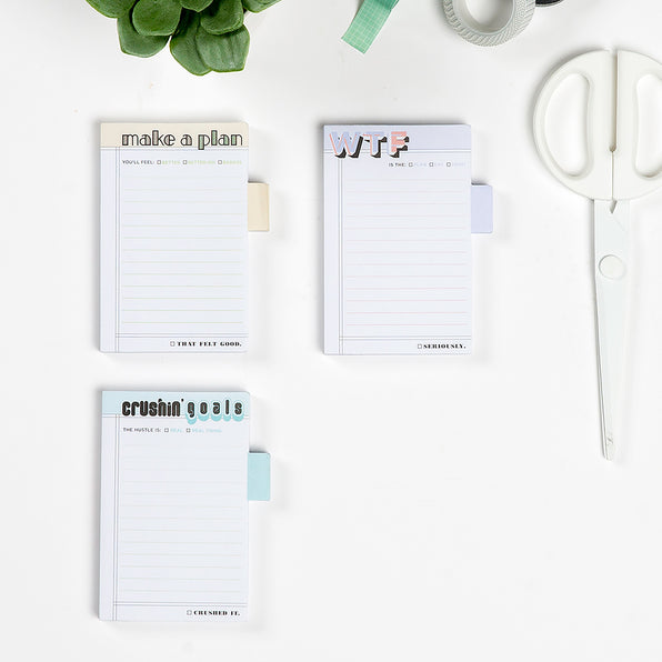 Crushin' Goals Sticky Notes / Sticky Tabs Notepad