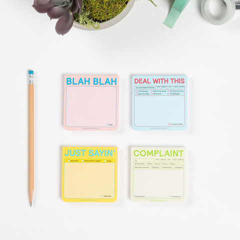 Complaint Sticky Notes (Pastel Edition)
