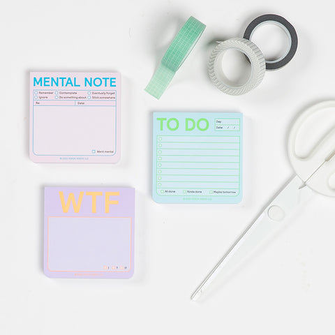Mental Note Sticky Notes (Pastel Edition)