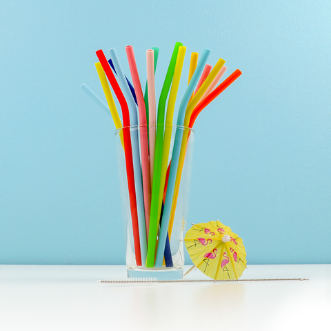 Pastel Silicone Straws (Set of 8)