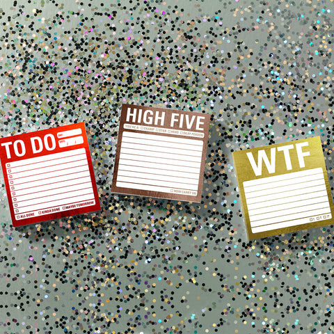 High Five Metallic Sticky Notes