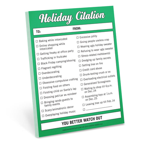 Knock Knock Holiday Citation