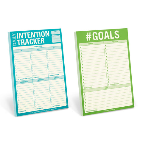 Knock Knock Goals Notepad Set