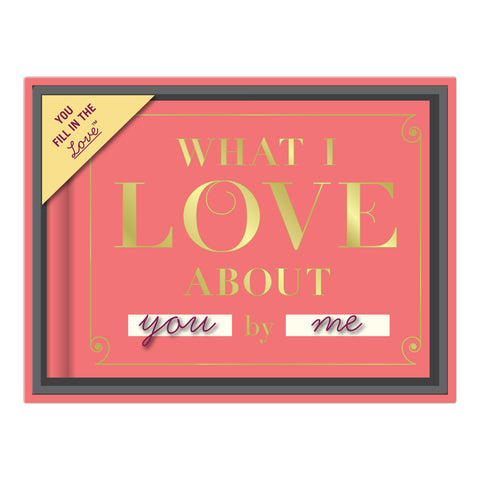 Knock Knock What I Love about You Fill in the Love Journal Gift Boxes