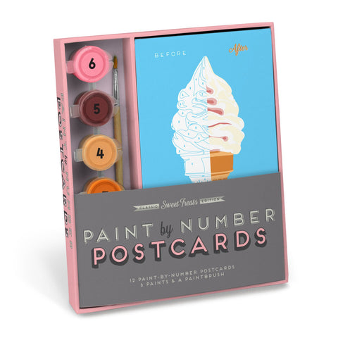 Knock Knock Sweet Treats Paint-by-Number Postcards Kit