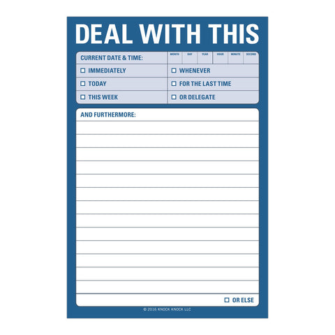 Knock Knock Deal With This Great Big Sticky Notes