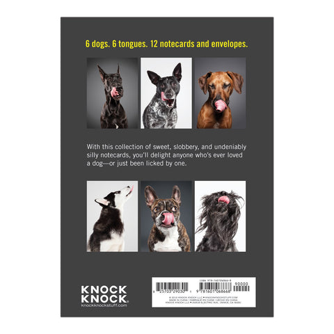 Knock Knock Lick Dog Blank Notecards Box