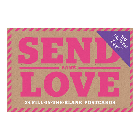 Knock Knock Send Some Love Fill in the Love Postcard Book