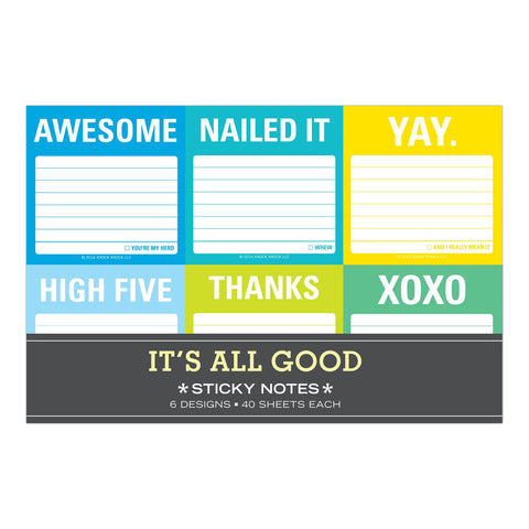 Knock Knock Its All Good Sticky Note Packet