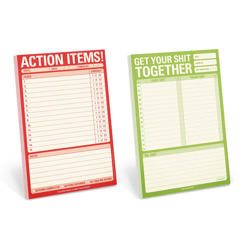 Knock Knock Get Your Shit Together Notepad Set