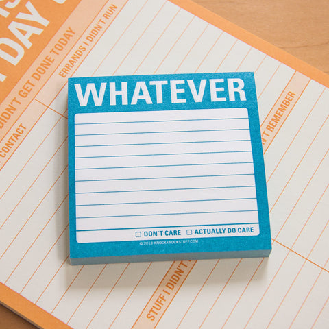 Whatever Sticky Notes by Knock Knock | KnockKnockStuff.com