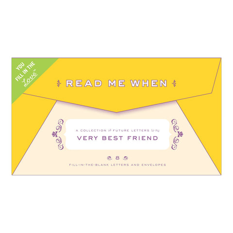 Knock Knock Letters to My Very Best Friend Read Me When Box