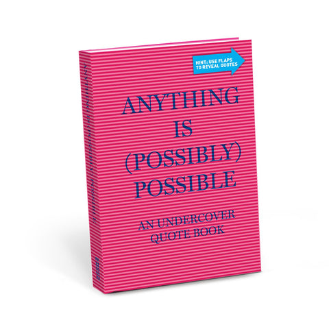 Knock Knock Anything is (Possibly) Possible Undercover Quote Book