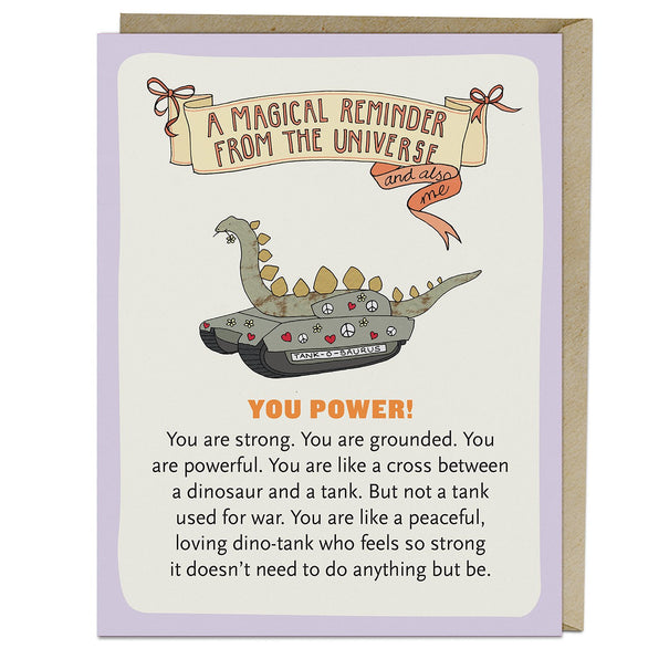 You Power Affirmators!® Greeting Card
