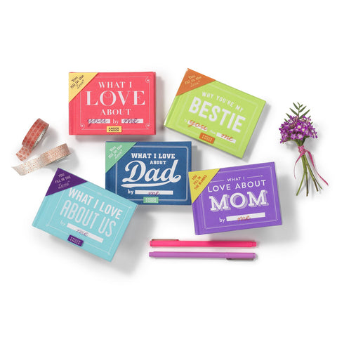 Knock Knock What I Love about You, Dad, Mom, About Us, and Why You're My Bestie - Fill in the Love Gift Books