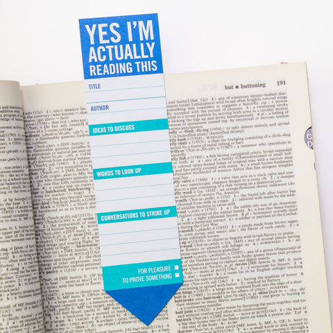 Knock Knock Yes, I'm Actually Reading This Bookmark Pad