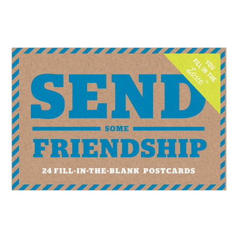 Knock Knock Send Some Friendship Fill in the Love Postcard Book