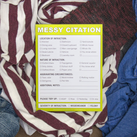 Knock Knock Messy Citation Nifty Note